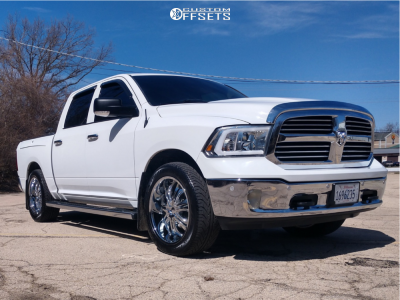 """2014 Ram 1500 - 22x9.5 15mm - VCT Godfather - Air Suspension - 32"""" x 10.5"""""""