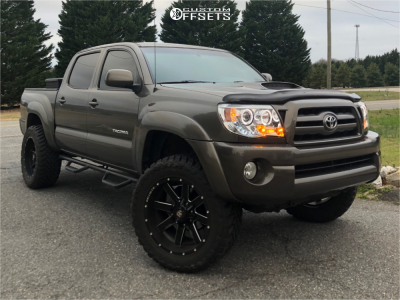 "2009 Toyota Tacoma - 20x10 -19mm - Ballistic Rage - Suspension Lift 3"" - 295/55R20"