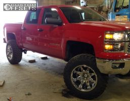 "2014 Chevrolet Silverado 1500 - 20x12 -44mm - Fuel Octane - Suspension Lift 7.5"" - 37"" x 12.5"""