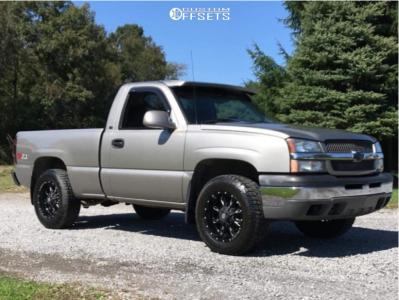 "2003 Chevrolet Silverado 1500 - 17x9 -12mm - Ballistic Scythe - Body Lift 3"" - 265/70R17"