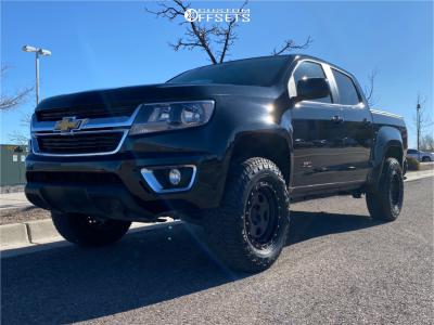 "2018 Chevrolet Colorado - 17x8.5 0mm - Fifteen52 Offroad Turbomac Hd - Suspension Lift 2.5"" - 265/70R17"