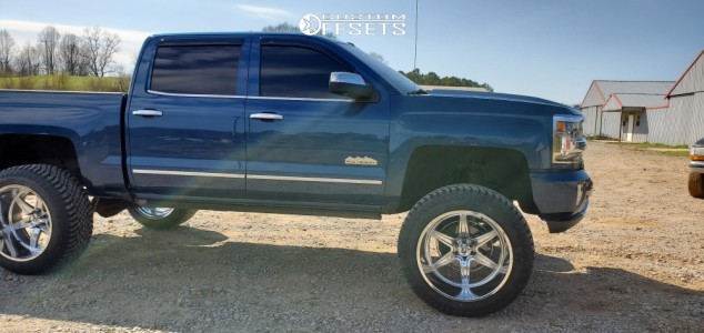 "2017 Chevrolet Silverado 1500 - 24x14 -76mm - Hostile Venom - Suspension Lift 7"" - 345/50R24"