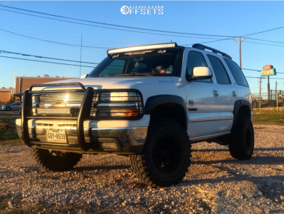 "2003 Chevrolet Tahoe - 16x8 0mm - American Racing Ar202 - Suspension Lift 3"" - 265/75R16"