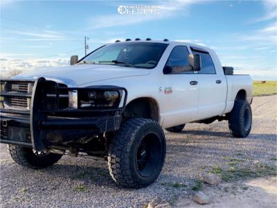 "2008 Dodge Ram 2500 - 22x12 -51mm - Vision Rocker - Suspension Lift 6.5"" - 37"" x 13.5"""