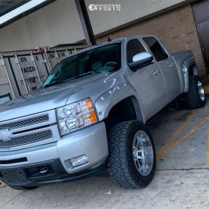 "2013 Chevrolet Silverado 1500 - 20x12 -44mm - Hostile Gauntlet - Suspension Lift 6"" - 33"" x 12.5"""
