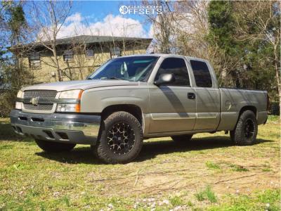 2005 Chevrolet Silverado 1500 - 17x9 -12mm - Dropstars 645mb - Stock Suspension - 285/70R17