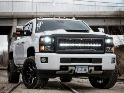 "2017 Chevrolet Silverado 2500 - 22x12 -45mm - Tuff T3b - Leveling Kit - 33"" x 12.5"""