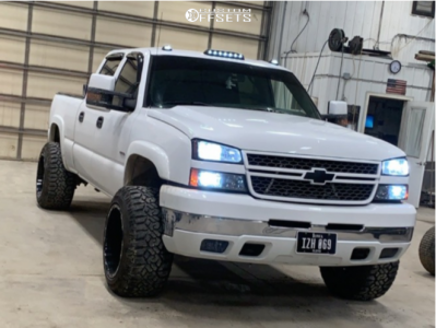 "2005 Chevrolet Silverado 2500 HD - 20x14 -76mm - Scorpion Sc10 - Leveling Kit - 33"" x 12.5"""