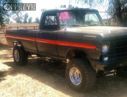 """1969 Ford F-100 Pickup - 15x10 -46mm - American Eagle 58 - Suspension Lift 4"""" - 33"""" x 12.5"""""""