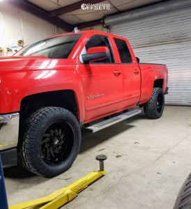 "2016 Chevrolet 1500 - 20x10 -19mm - Hardrock Crusher - Leveling Kit - 32"" x 12.5"""