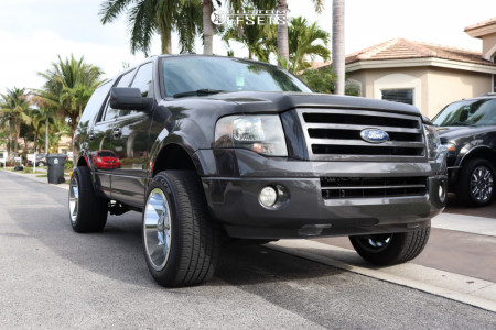 """2007 Ford Expedition - 20x12 -44mm - RBP 74r - Suspension Lift 3.5"""" - 285/50R20"""