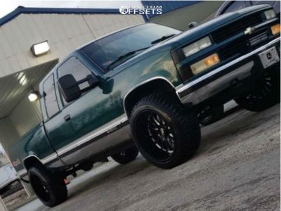 "1997 Chevrolet K1500 - 22x12 -51mm - Cali Offroad Summit - Stock Suspension - 33"" x 12.5"""