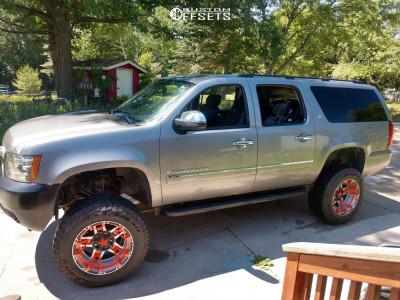 "2008 Chevrolet Suburban 2500 - 20x12 -44mm - Xd Rockstar III - Suspension Lift 6"" - 35"" x 12.5"""