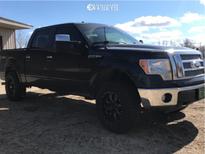 2010 Ford F-150 - 18x9 18mm - Moto Metal Mo970 - Leveling Kit - 275/70R18
