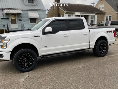 2016 Ford F-150 - 20x10 -19mm - Fuel Assault - Leveling Kit - 305/50R20