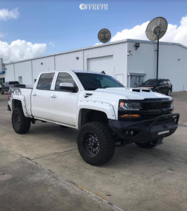 """2017 Chevrolet Silverado 1500 - 20x10 -19mm - Fuel Stroke - Suspension Lift 4.5"""" - 35"""" x 12.5"""""""