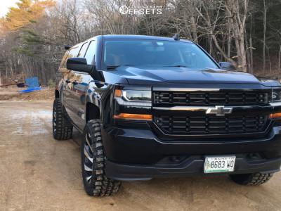 "2017 Chevrolet Silverado 1500 - 20x10 -19mm - Off Road Monster M24 - Leveling Kit - 33"" x 12.5"""