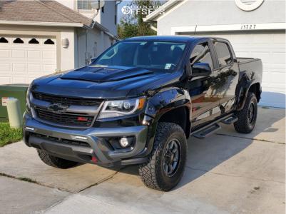 "2016 Chevrolet Colorado - 17x8 0mm - Moto Metal Mo970 - Suspension Lift 4"" - 285/70R17"