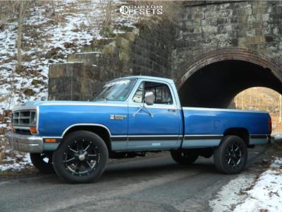1987 Dodge W100 - 20x9 10mm - Vision Arc - Stock Suspension - 275/60R20