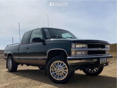 1997 Chevrolet K1500 - 20x9 -12mm - RBP 75r - Stock Suspension - 275/55R20
