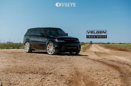 2019 Land Rover Range Rover Sport - 24x10 33mm - Velgen Vft9 - Stock Suspension - 295/30R24