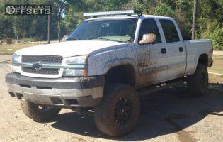 """2004 Chevrolet Silverado 2500 - 20x9 14mm - Fuel Hostage - Suspension Lift 6"""" - 35"""" x 12.5"""""""