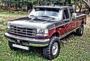 """1996 Ford F-350 - 17x8.5 -5mm - Fuel Octane - Leveling Kit - 36"""" x 13.5"""""""