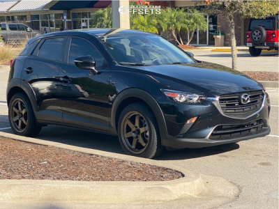 2019 Mazda CX-3 - 18x8 35mm - AVID1 AV6 - Stock Suspension - 235/45R18