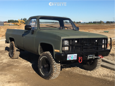 1984 Chevrolet K30 - 16x8 0mm - Cragar Soft 8 - Leveling Kit - 285/75R16