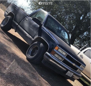 "1998 Chevrolet C1500 - 15x10 -44mm - Eagle Alloy 028 - Level 2"" Drop Rear - 275/55R15"
