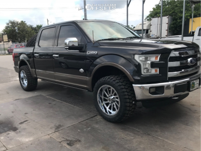"""2015 Ford F-150 - 20x10 -19mm - Xtreme Force Xf3 - Stock Suspension - 33"""" x 12.5"""""""