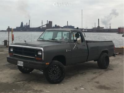 """1986 Dodge D150 - 20x12 -51mm - Vision Rocker - Suspension Lift 4"""" - 245/50R20"""