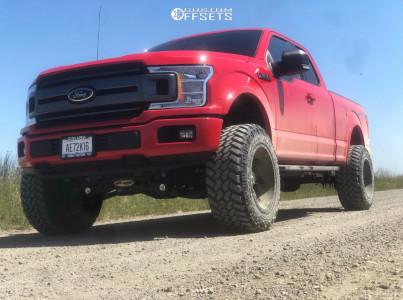 "2018 Ford F-150 - 20x12 -44mm - Fuel Maverick - Suspension Lift 6"" - 35"" x 12.5"""