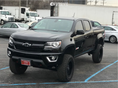 """2017 Chevrolet Colorado - 18x9 -12mm - Panther Offroad 580 - Suspension Lift 6"""" - 275/70R18"""