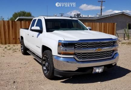 "2019 Chevrolet Silverado 1500 LD - 20x9 0mm - Ultra Mammoth - Level 2"" Drop Rear - 275/55R20"