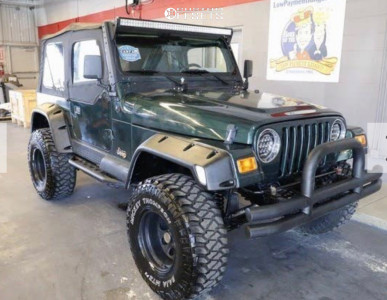 "2000 Jeep Wrangler - 15x10 -45mm - Pro Comp Series 97 - Suspension Lift 3"" - 33"" x 12.5"""