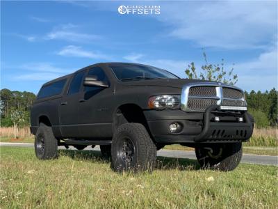 """2002 Dodge Ram 1500 - 17x9 1mm - Fuel Nitro - Suspension Lift 8.5"""" - 315/70R17"""