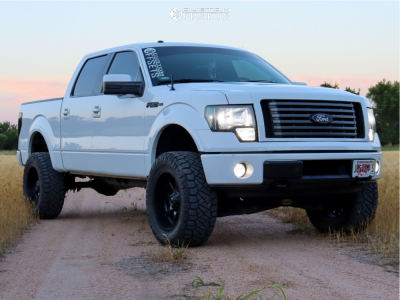 "2011 Ford F-150 - 20x10 -24mm - Fuel Maverick - Suspension Lift 4"" - 35"" x 12.5"""