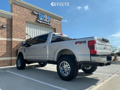 "2019 Ford F-250 Super Duty - 20x10 -19mm - Xtreme Force Xf8 - Suspension Lift 4"" - 37"" x 12.5"""