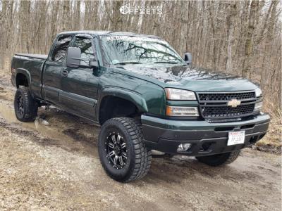 "2006 Chevrolet Silverado 1500 - 17x8 15mm - Proline Type 190 - Suspension Lift 6"" - 33"" x 12.5"""
