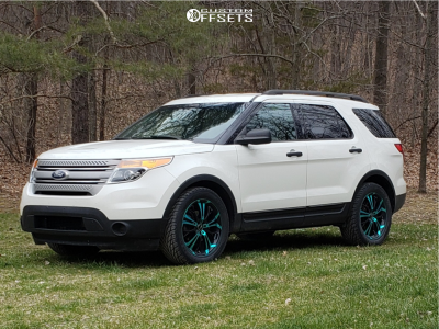 2012 Ford Explorer - 20x8 45mm - HD Spinout - Stock Suspension - 295/45R20