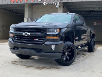 "2019 Chevrolet Silverado 1500 LD - 20x12 -51mm - ARKON OFF-ROAD Lincoln - Suspension Lift 2.5"" - 33"" x 12.5"""