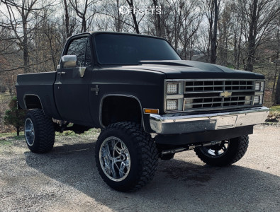 "1987 Chevrolet K10 Pickup - 20x14 -76mm - Fuel Hostage - Suspension Lift 6"" - 35"" x 13.5"""