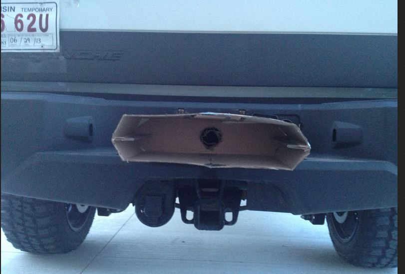 mocked up exhaust