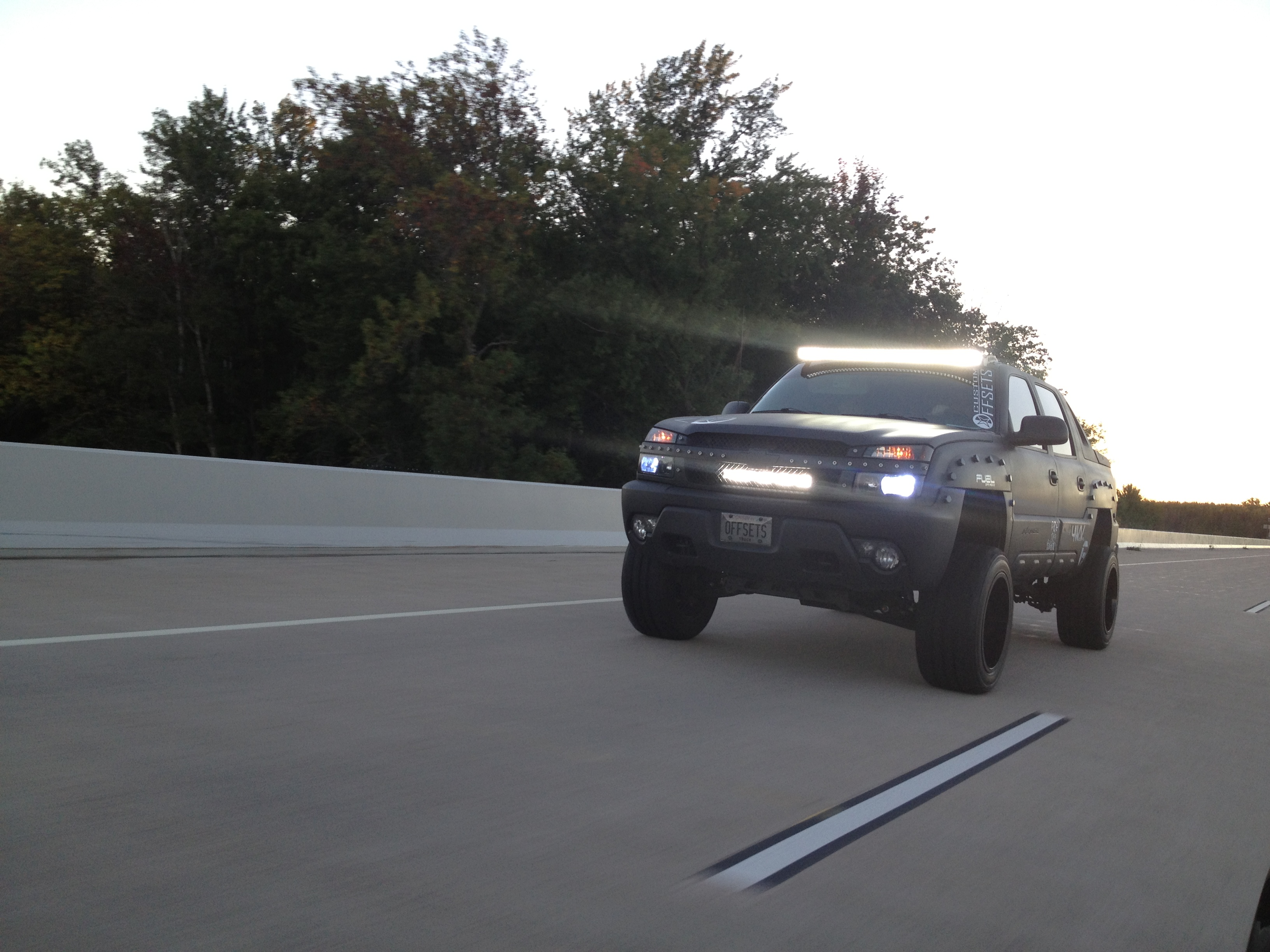 Custom offsets 50 offroad led bars light bar added to our windshield img2001 aloadofball Images
