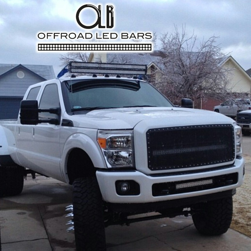 Custom offsets does 50 offroad led light bar clear cab lights on 1aaaaa aloadofball
