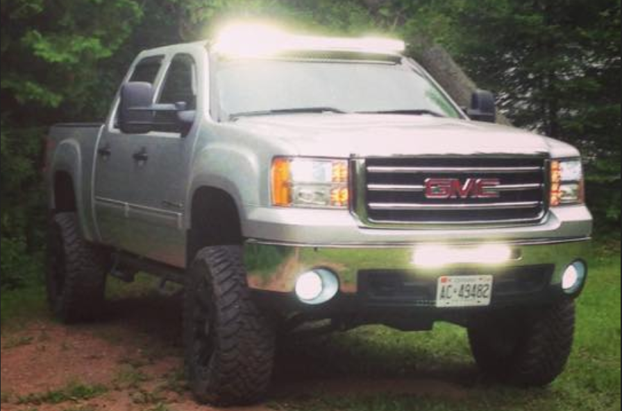 "50"" and 20"" GMC bumper mount"