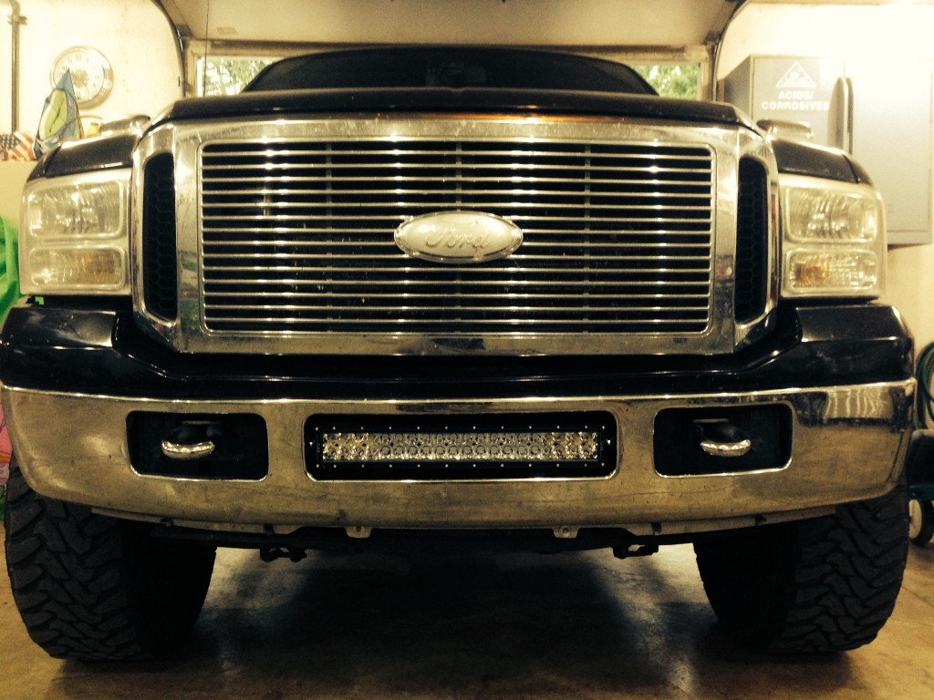 Super Duty bumper 20 inch with our custom brackets