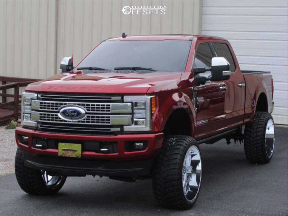 """2018 Ford F-250 Super Duty Super Aggressive 3""""-5"""" on 26x14 -76 offset TIS 544c and 37""""x13.5"""" Road One Atheon Mt on Suspension Lift 6"""" - Custom Offsets Gallery"""