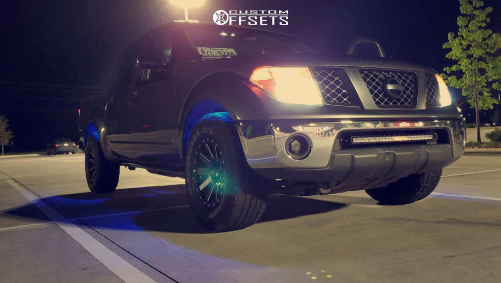 """2007 Nissan Frontier Aggressive > 1"""" outside fender on 16x8 10 offset XD Xd818 & 265/70 Cooper Discoverer At3 4s on Stock Suspension - Custom Offsets Gallery"""